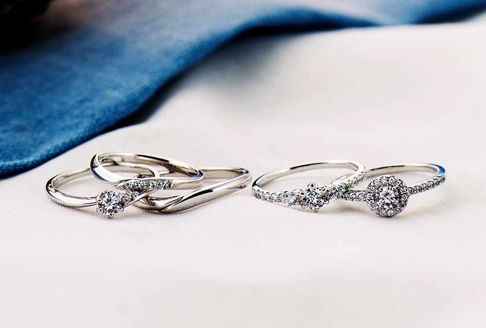結婚指輪、婚約指輪・シンプル