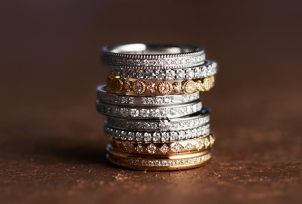 結婚指輪、婚約指輪・エレガント