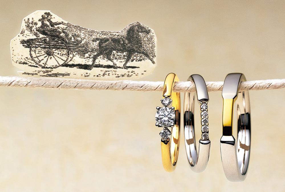 結婚指輪、婚約指輪・個性派