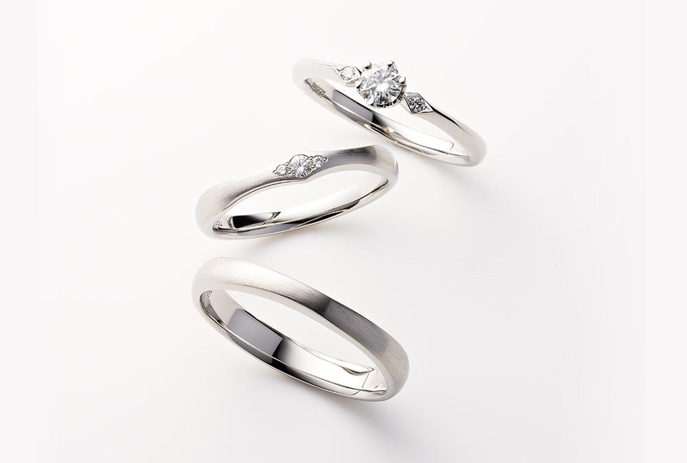 結婚指輪、婚約指輪・ストレートデザイン