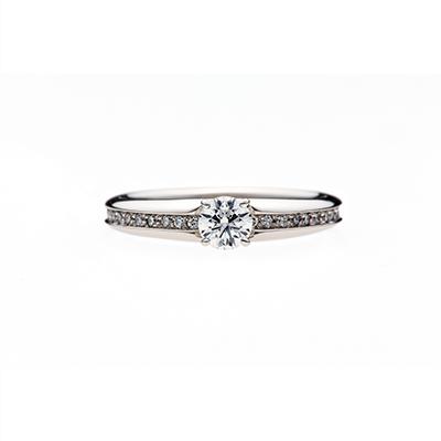 MacaronⅡ 婚約指輪 個性派 ストレート プラチナ