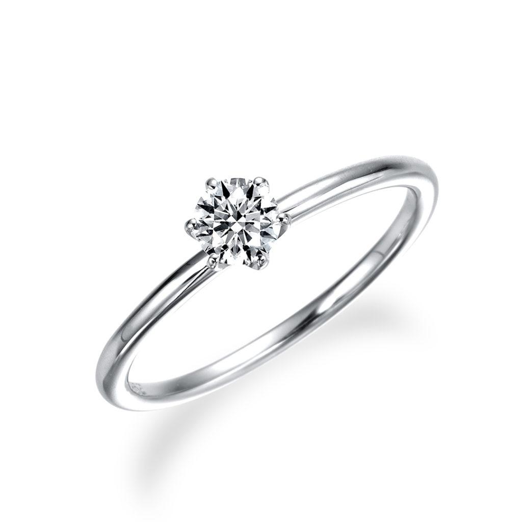 - ミオ - 婚約指輪 シンプル ストレート プラチナ