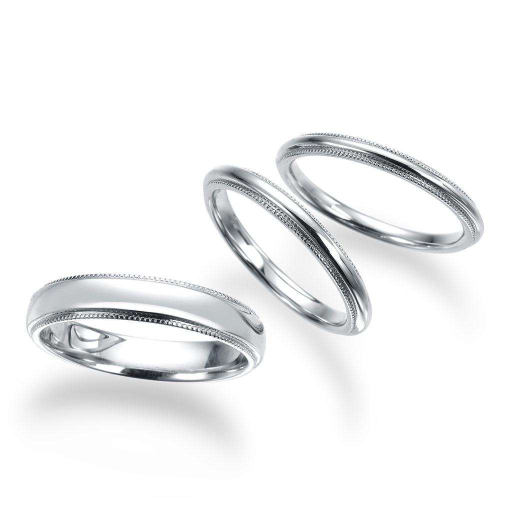 -ミリア- 結婚指輪 シンプル アンティーク ストレート