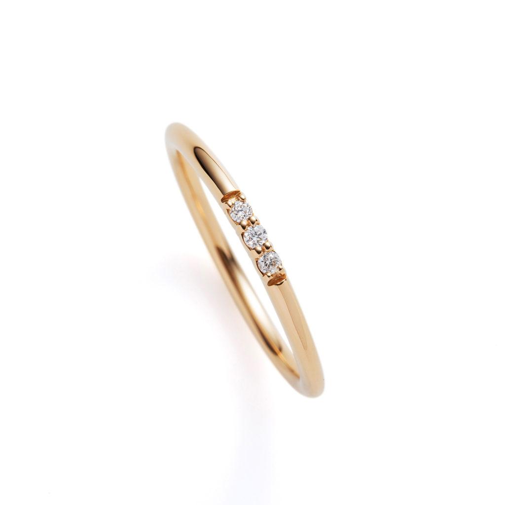 caillou 結婚指輪 シンプル ストレート イエローゴールド