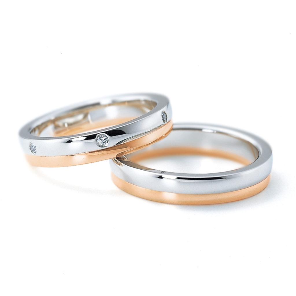 6RM904 6RL917 結婚指輪 キュート ストレート コンビ