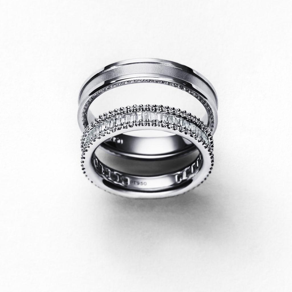 GALAXIA 結婚指輪 シンプル ストレート エタニティ プラチナ