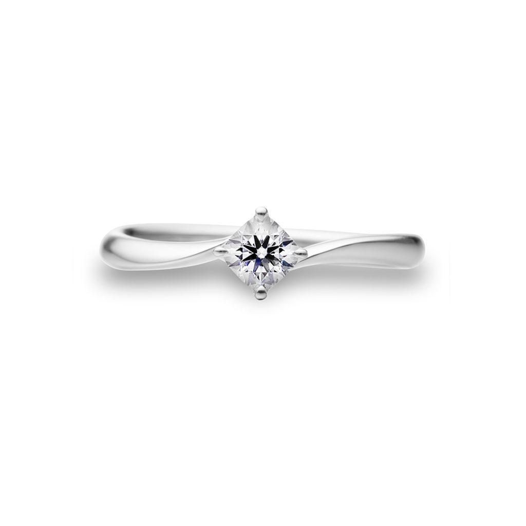 Elegance 婚約指輪 エレガント S字(ウェーブ) プラチナ
