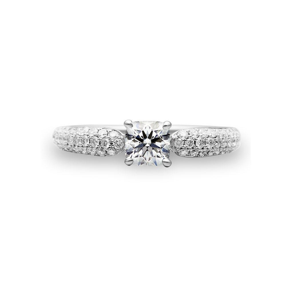 Brilliance 婚約指輪 シンプル エレガント ストレート プラチナ
