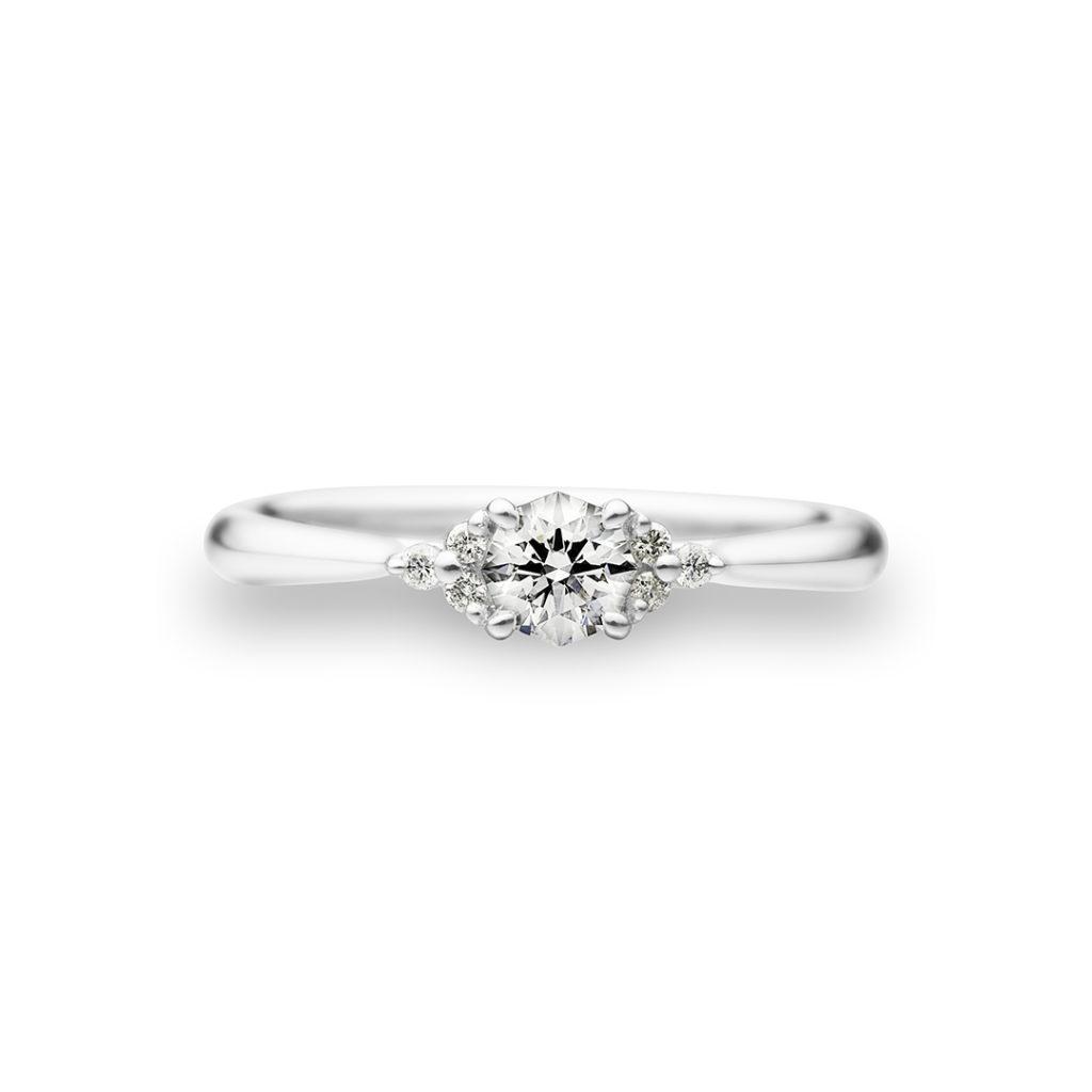 Fortune Gate 婚約指輪 シンプル ストレート プラチナ