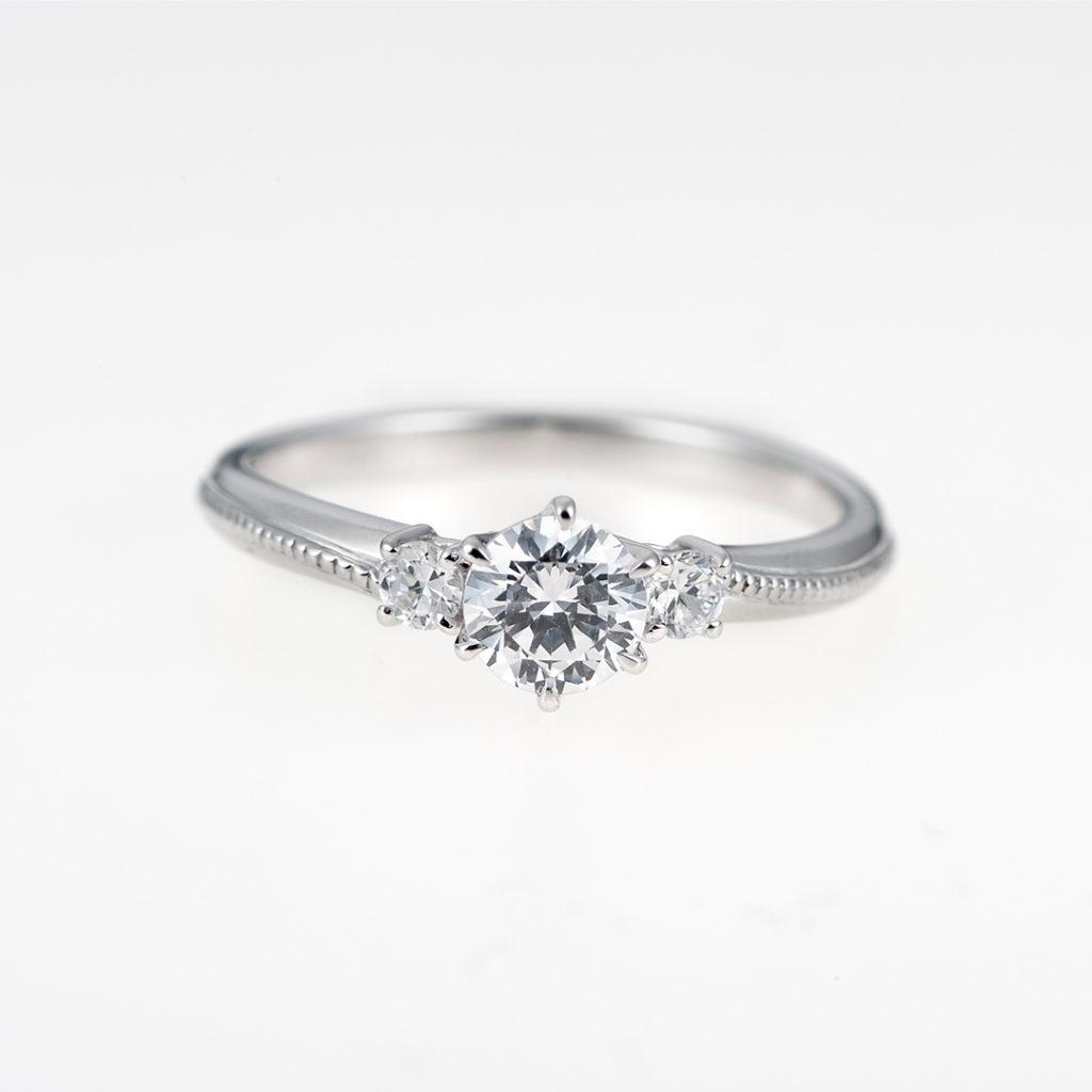 RibonⅣ-リボン- 婚約指輪 キュート ストレート プラチナ