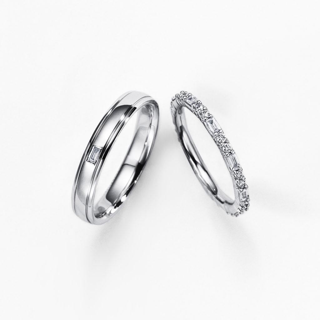 ORBITE 結婚指輪 シンプル ストレート エタニティ プラチナ