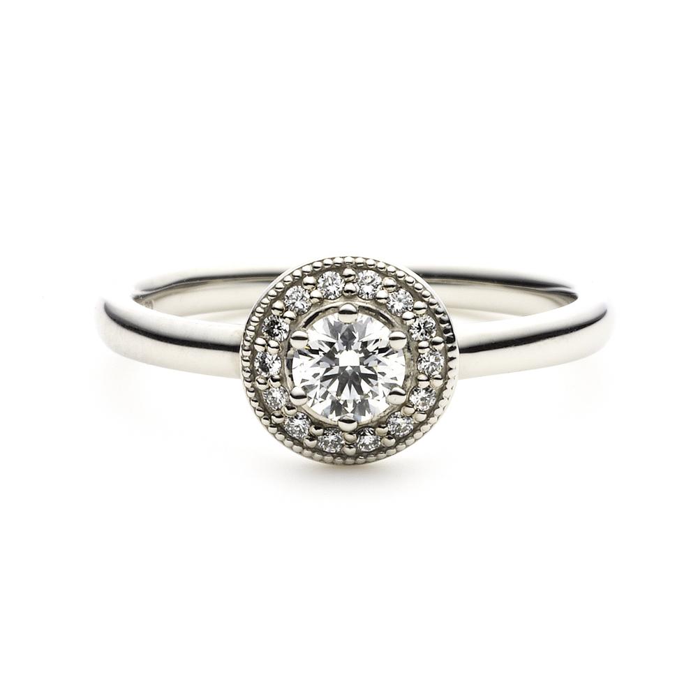 LOFTE 婚約指輪 シンプル アンティーク 個性派 ストレート プラチナ