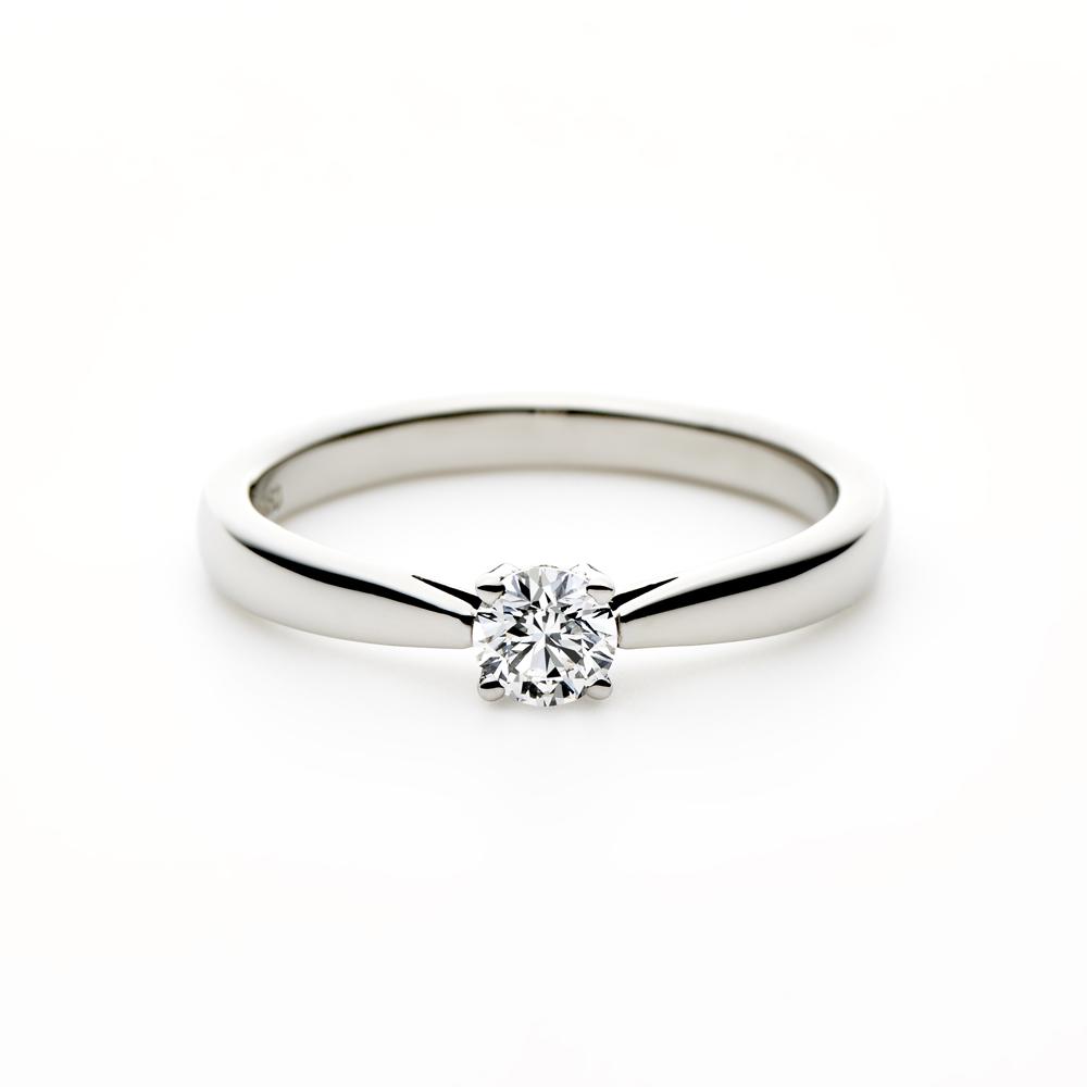 LYS 婚約指輪 シンプル ストレート パラジウム