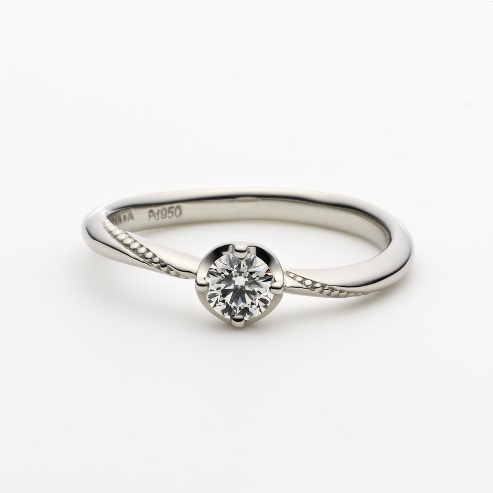 METEOR 婚約指輪 シンプル アンティーク 個性派 S字(ウェーブ) プラチナ