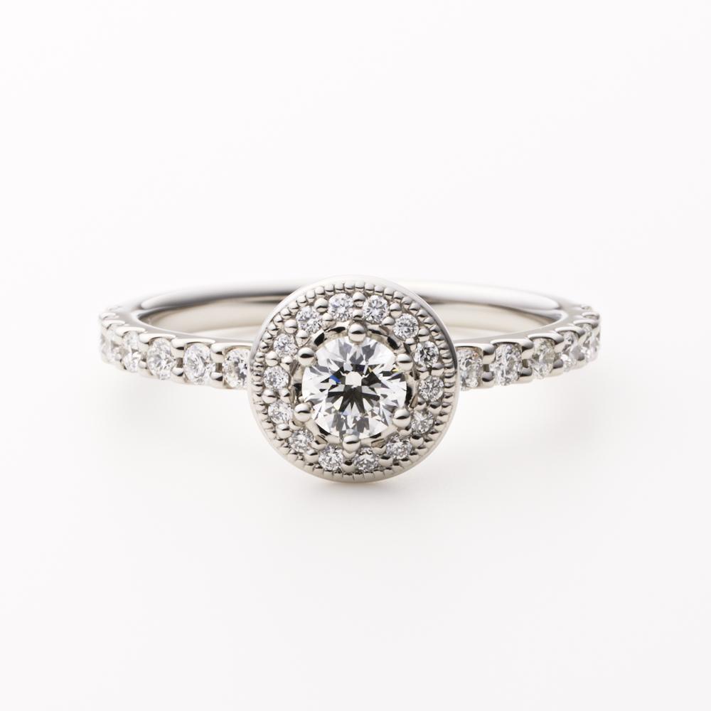 LOFTE 婚約指輪 エレガント アンティーク 個性派 ストレート パラジウム