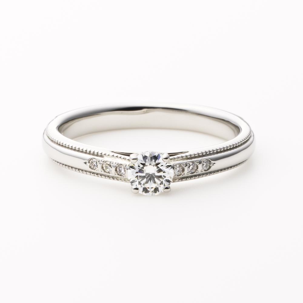 VIA 婚約指輪 シンプル エレガント アンティーク ストレート パラジウム