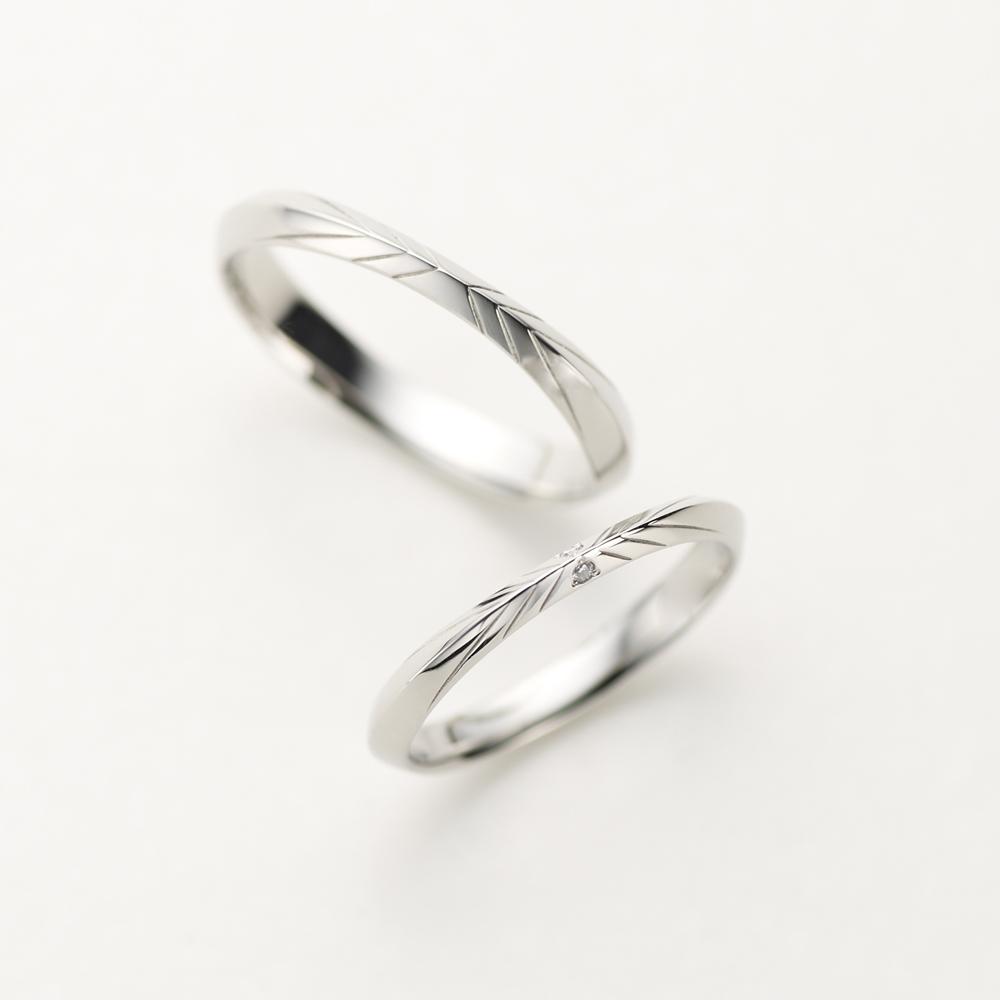 LORSQUE 結婚指輪 シンプル 個性派 ストレート プラチナ