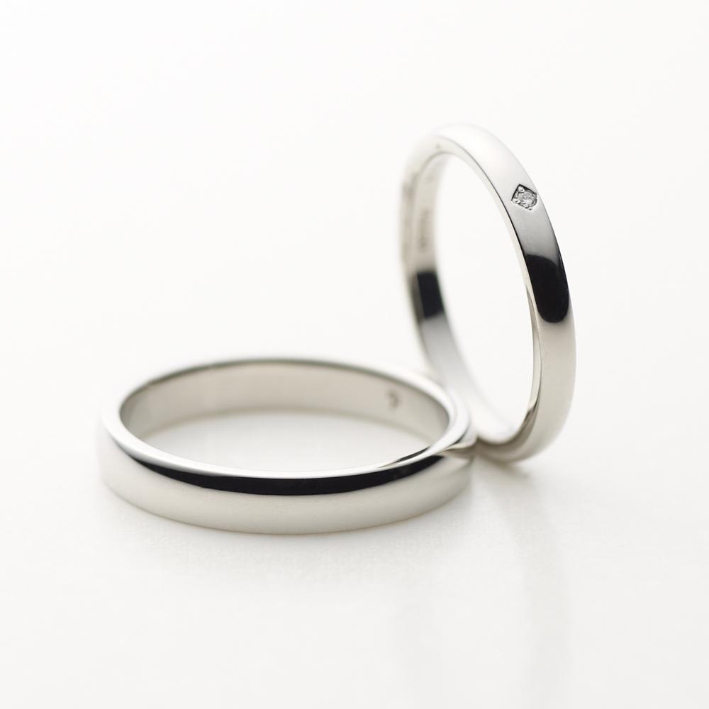 LYS 結婚指輪 シンプル ストレート プラチナ