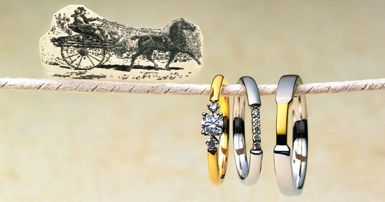 指輪を着けた瞬間からふたりの旅物語が始まる<br />