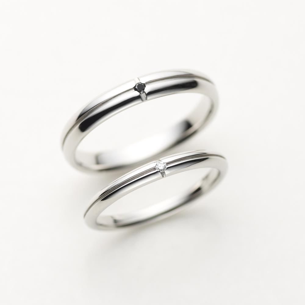 VENTANA 結婚指輪 シンプル アンティーク 個性派 ストレート プラチナ