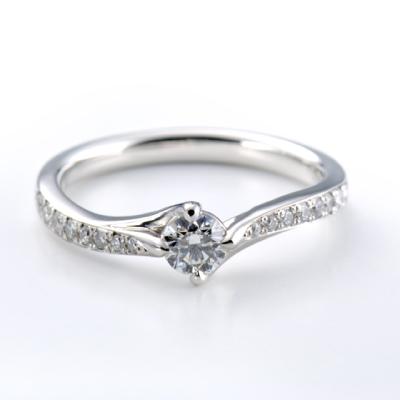 Bougainvilleae 婚約指輪 エレガント S字(ウェーブ) プラチナ