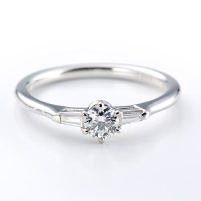 Casablamca 婚約指輪 アンティーク 個性派 ストレート プラチナ