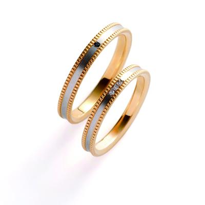 cerca 結婚指輪 シンプル アンティーク ストレート イエローゴールド コンビ