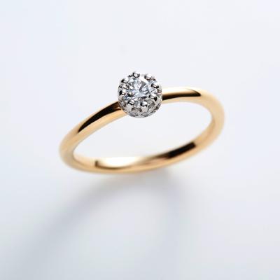 cercle 婚約指輪 シンプル キュート S字(ウェーブ) イエローゴールド