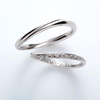 cercle 結婚指輪 シンプル エレガント S字(ウェーブ) エタニティ プラチナ