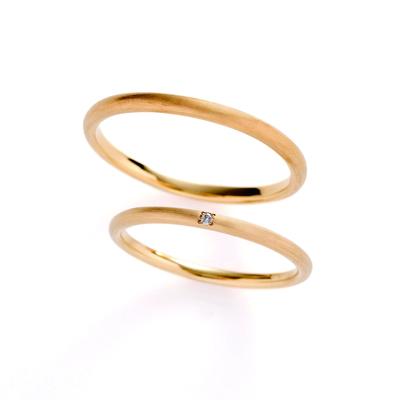 cielo 結婚指輪 シンプル アンティーク ストレート イエローゴールド