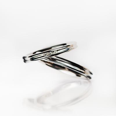 ensoleillé 結婚指輪 シンプル エレガント ストレート プラチナ