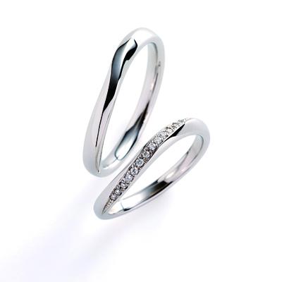 flow 結婚指輪 シンプル S字(ウェーブ) プラチナ