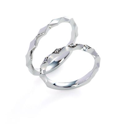 lumina 結婚指輪 シンプル 個性派 ストレート プラチナ
