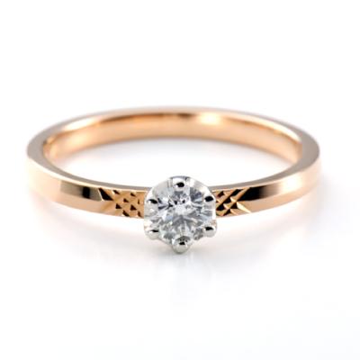 Olivier odorant 婚約指輪 シンプル エレガント ストレート ピンクゴールド