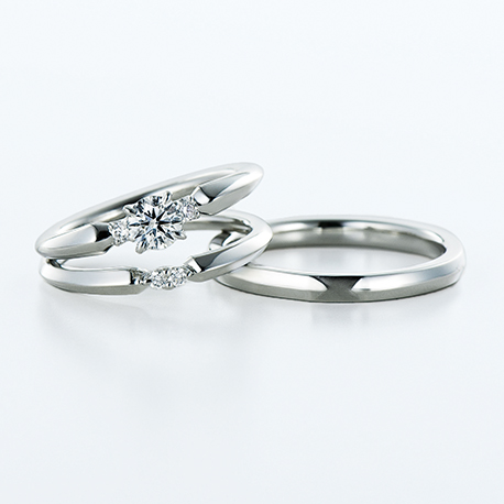 Sirius 結婚指輪 セットリング シンプル エレガント 個性派 ストレート プラチナ