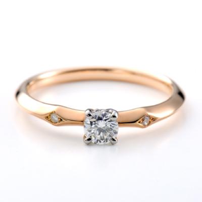 Statice 婚約指輪 アンティーク 個性派 ストレート ピンクゴールド