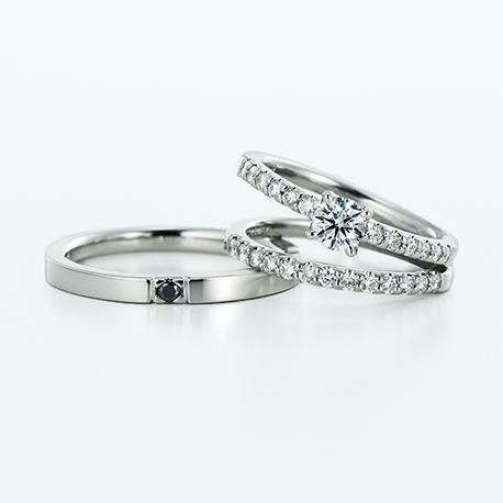Vega 結婚指輪 セットリング シンプル エレガント ストレート プラチナ