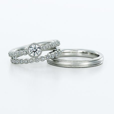 Vesta 結婚指輪 セットリング シンプル エレガント キュート ストレート プラチナ