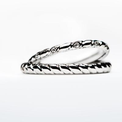 wili 結婚指輪 シンプル 個性派 ストレート プラチナ