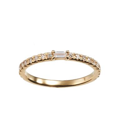 IDYLLE RING-イデリ- 婚約指輪 結婚指輪 シンプル エレガント ストレート イエローゴールド