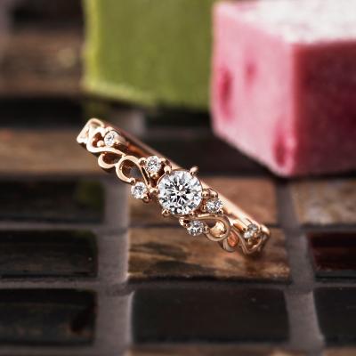 Espoir 婚約指輪 エレガント キュート 個性派 ストレート ピンクゴールド