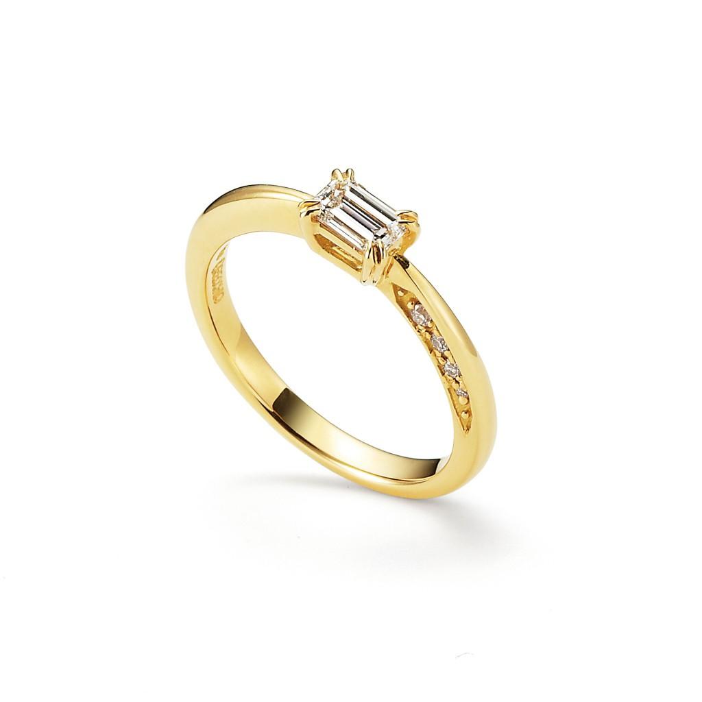 pipi 婚約指輪 アンティーク 個性派 ストレート イエローゴールド