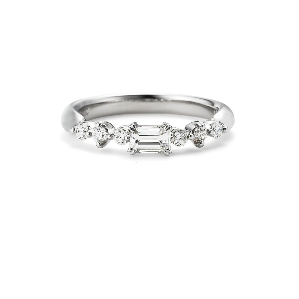 pipi 婚約指輪 アンティーク 個性派 ストレート プラチナ