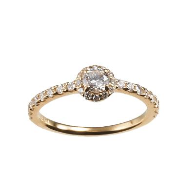 CHARMANT RING-シャルモン- 婚約指輪 エレガント ストレート イエローゴールド
