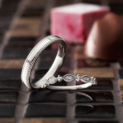 Joie 結婚指輪 アンティーク ストレート プラチナ パラジウム