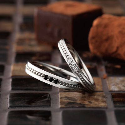 Blanche 結婚指輪 アンティーク ストレート プラチナ パラジウム
