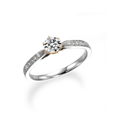 - ブラン - 婚約指輪 アンティーク 個性派 ストレート プラチナ