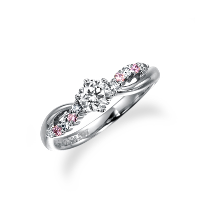 ブラン 婚約指輪 キュート 個性派 S字(ウェーブ) プラチナ