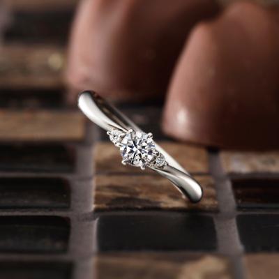 Brise 婚約指輪 シンプル S字(ウェーブ) パラジウム