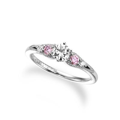 ミルヴェーラ 婚約指輪 キュート 個性派 ストレート プラチナ